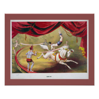 Circus Banner Act Vintage Illustration Poster