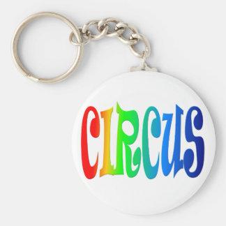 circus basic round button key ring