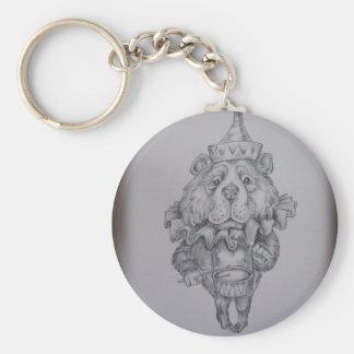 Circus Bear sketch Key Ring