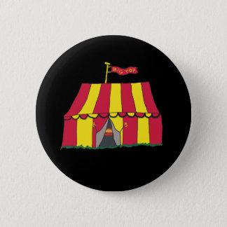 Circus Big Top Tent 6 Cm Round Badge