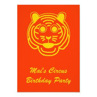 Circus Birthday Invite