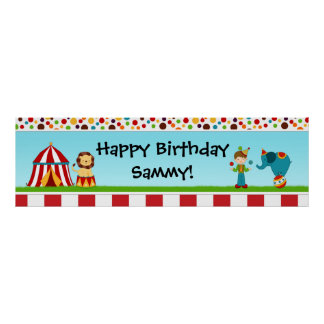 Circus Birthday Party Banner 40x12 Poster