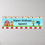 Circus Birthday Party Banner 40x12 Print
