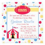 circus birthday party invite cute fun simple
