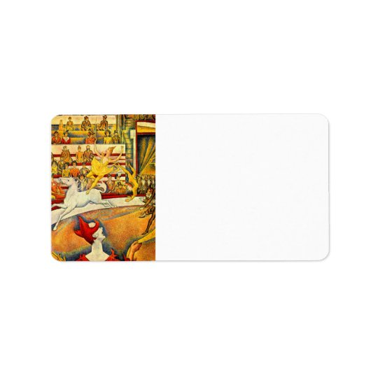 Circus by Georges Seurat Address Label