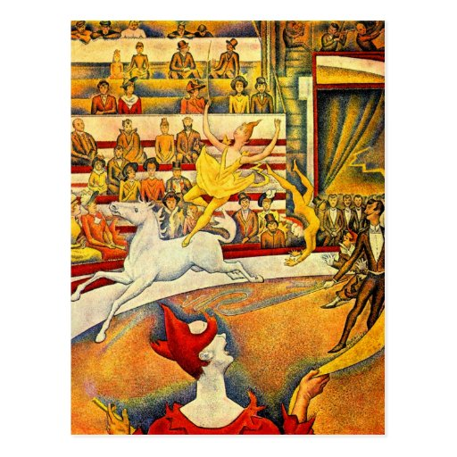 Circus by Georges Seurat Post Cards
