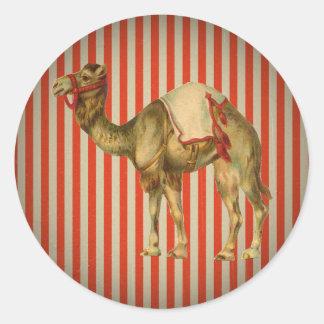CIRCUS CAMEL VINTAGE CLASSIC ROUND STICKER