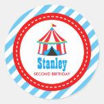 Circus Carnival Birthday Baby Shower Round Sticker