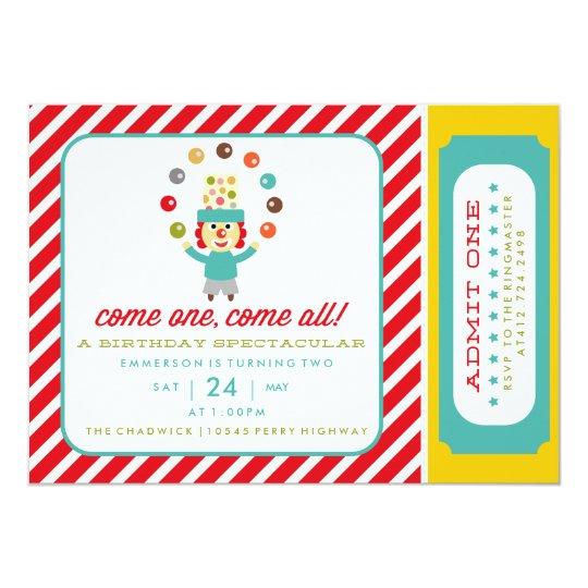 CIRCUS CARNIVAL BIRTHDAY PARTY INVITATION invite