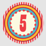 Circus Carnival Birthday Party  Sticker