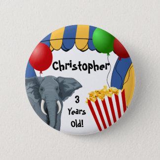 Circus Carnival Custom Birthday 6 Cm Round Badge
