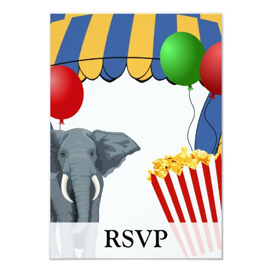 Circus Carnival Custom Birthday Card