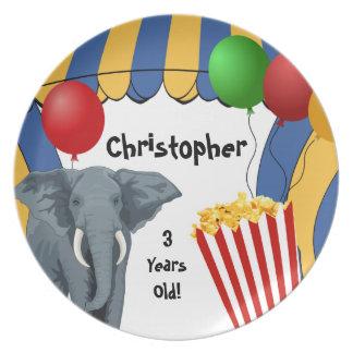 Circus Carnival Custom Birthday Plate