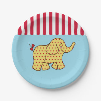 Circus Carnival Elephant Party Paper Plates 7 Inch Paper Plate