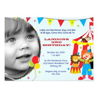 Circus Carnival Party Invitations