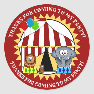 Circus Carnival Thank You Sticker