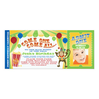 CIRCUS CARNIVAL TICKET INVITES