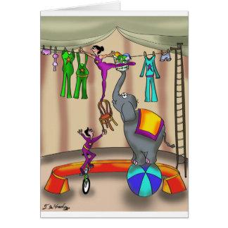 Circus Cartoon 9376 Card