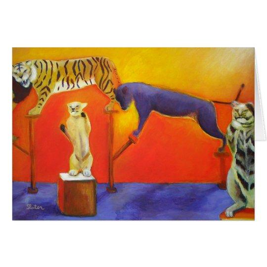 Circus Cats - Card