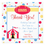 circus chic birthday party invite cute  thank you
