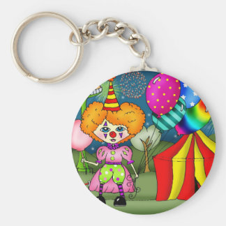 Circus Circus Basic Round Button Key Ring
