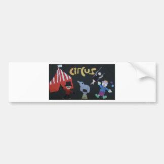 Circus Circus by Kaye Talvilahti Bumper Sticker