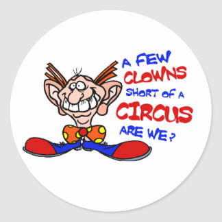 Circus Classic Round Sticker