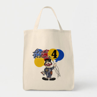 Circus Clown 4th Birthday Tshirts and Gifts Tote Bags