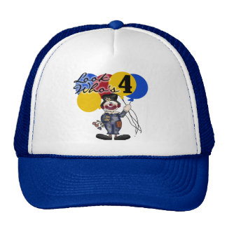 Circus Clown 4th Birthday Tshirts and Gifts Hats