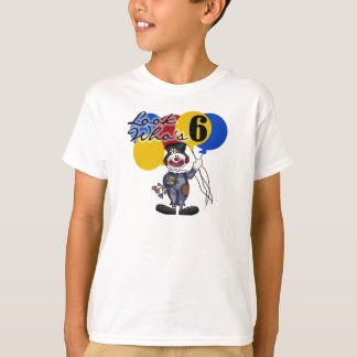 Circus Clown 6th Birthday T-Shirt