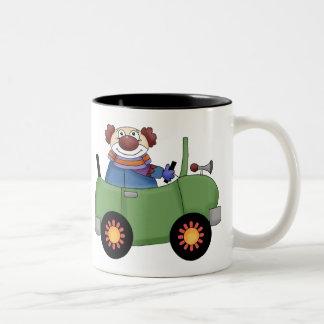 Circus Clown Car Two-Tone Coffee Mug