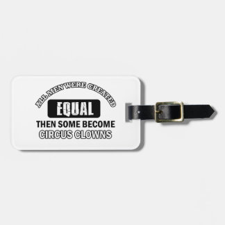 Circus Clown designs Tags For Luggage