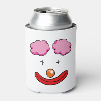 circus clown face cartoon can cooler