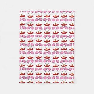 circus clown face cartoon pattern fleece blanket