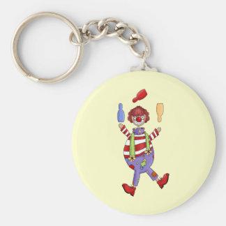 Circus Clown Juggling Key Ring