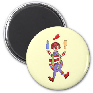 Circus Clown Juggling Magnet