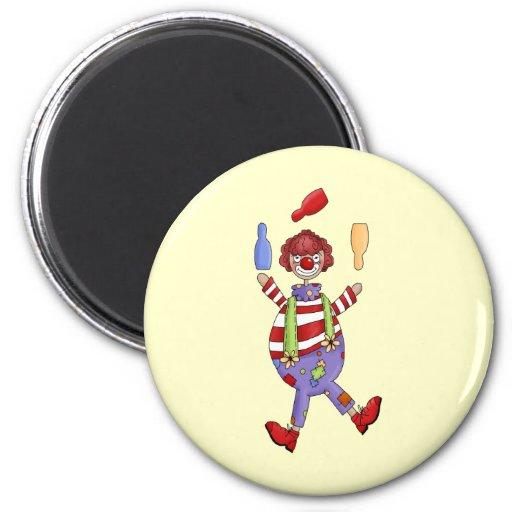 Circus Clown Juggling Magnet