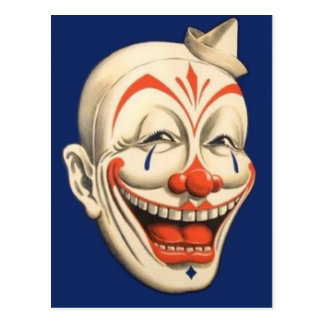 Circus Clown Postcard