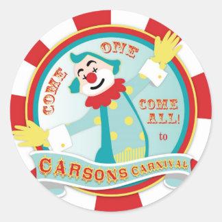 Circus Clown Sticker for Carson