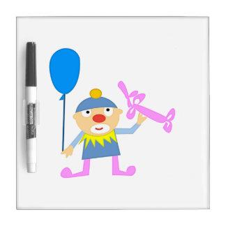 Circus Clown with Ballon Dry Erase Whiteboard