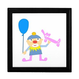 Circus Clown with Ballon Trinket Boxes