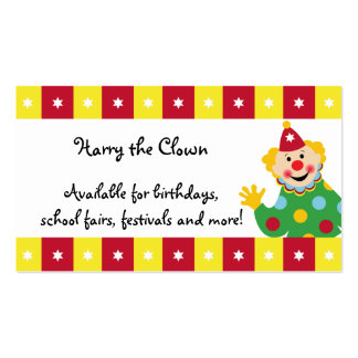 Circus Clown with Stars Business Card