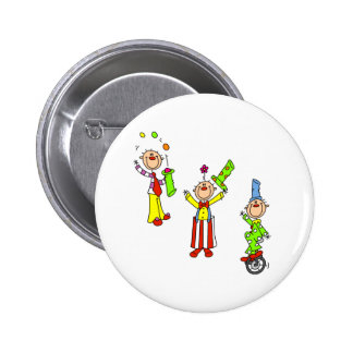Circus Clowns 6 Cm Round Badge