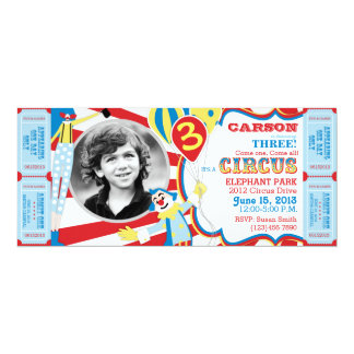 Circus Clowns Birthday Invitation