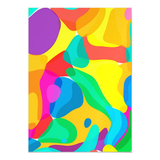 Circus Colors Chaos Abstract Art Pattern Magnetic Invitations