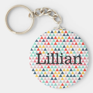 Circus Colour Triangles Key Ring