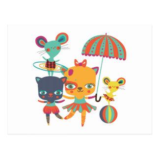 Circus Cuties Postcard