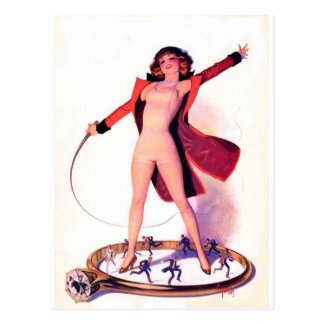 Circus Days Film Fun Vintage Art Postcard