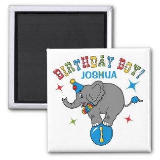 Circus Elephant 1st Birthday Fridge Magnets