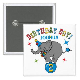 Circus Elephant 2nd Birthday 15 Cm Square Badge